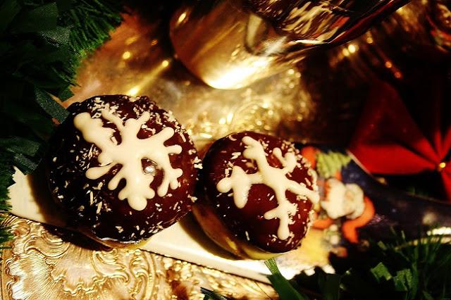 Mini bomboloni stellati natalizi