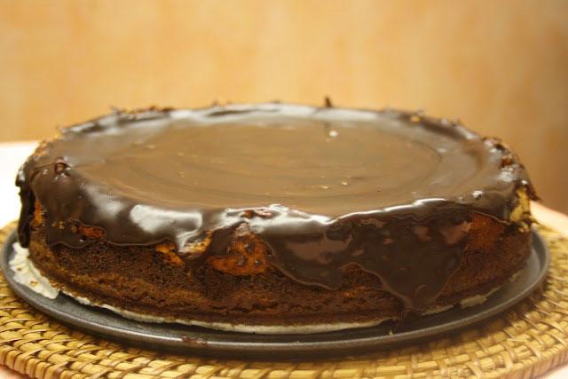 Chessecake polacco al cioccolato e semi di papavero