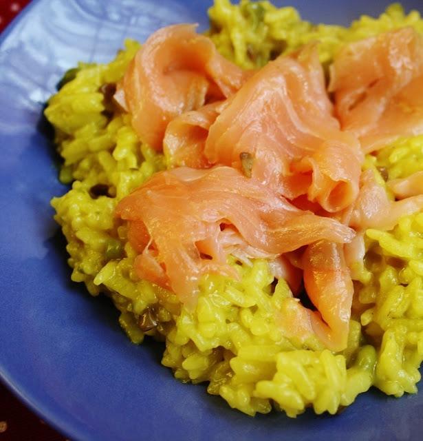 riso salmone
