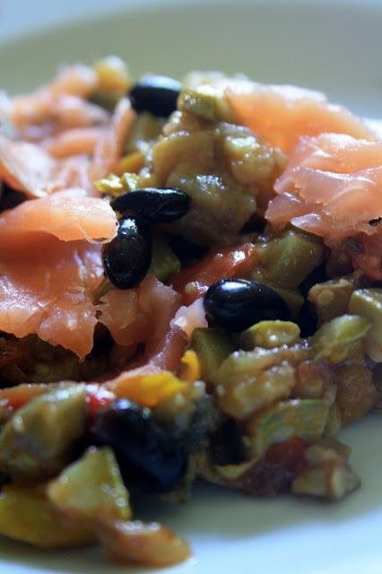 verdure con salmone