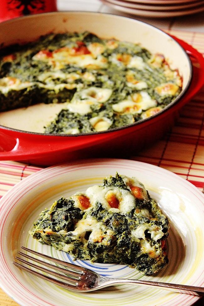 Frittata di spinaci senza uova