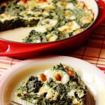 Frittata di spinaci senza uova con farina di ceci