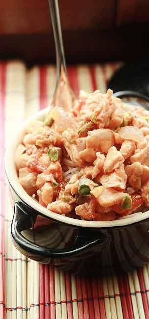 Spaghetti di riso pesce spada e pistacchi