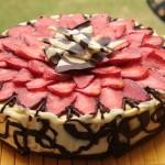 Torta paradiso al cioccolato e fragole